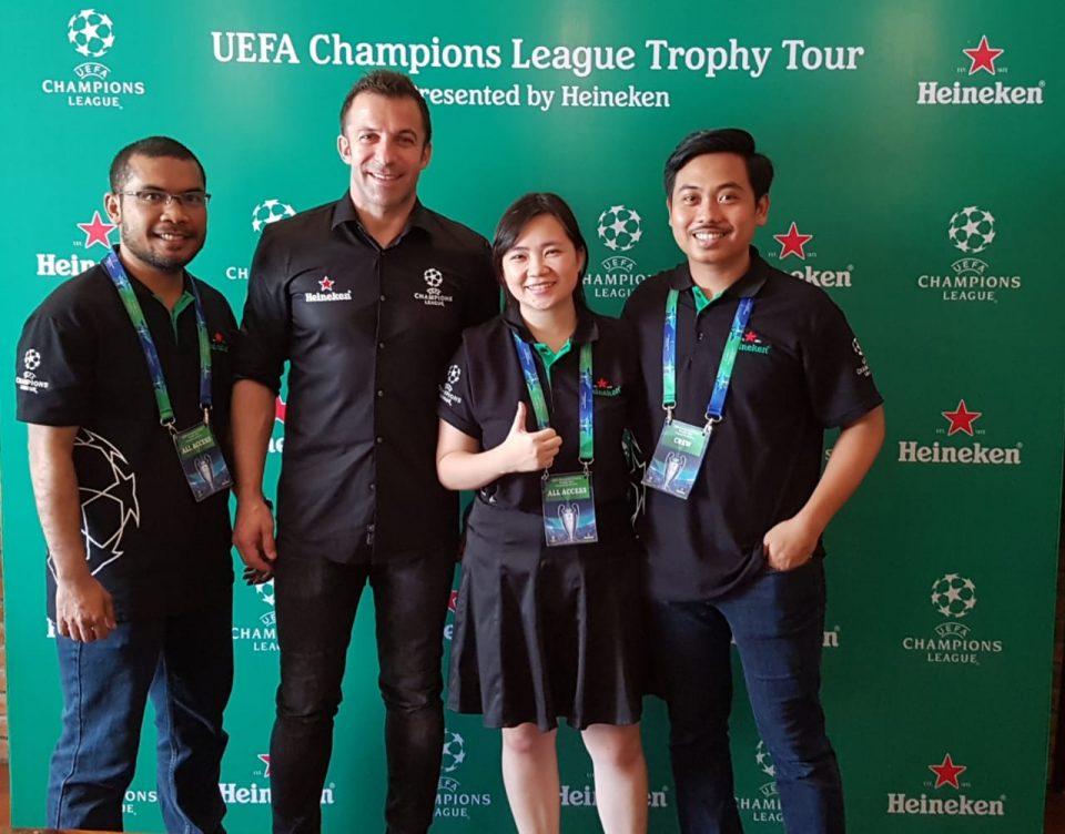 UEFA Champions League Trophy Tour Indonesia - Del Piero